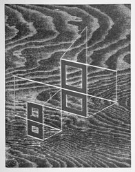 Josef Albers (American, 1888-1976). <em>W + P, State III</em>, 1968. Woodcut on wove paper, Sheet: 17 15/16 x 14 15/16 in. (45.6 x 37.9 cm). Brooklyn Museum, Gift of the artist, 69.26.3. © artist or artist's estate (Photo: Brooklyn Museum, 69.26.3_bw.jpg)
