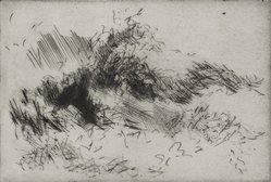 Fernando Zobel (Spanish, born Philippines, 1924-1984). <em>Untitled</em>. Drypoint and etching on wove paper, 3 7/8 x 6 in. (9.8 x 15.2 cm). Brooklyn Museum, Gift of the Museo de Arte Abstracto Español through D. Fernando Zobel, 69.28.19. © artist or artist's estate (Photo: Brooklyn Museum, 69.28.19_PS2.jpg)