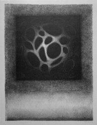 Rodolfo Abularach (Guatemalan, born 1933). <em>Archetype</em>, n.d. Lithograph on board, 25 5/8 x 19 1/4 in. (65.1 x 48.9 cm). Brooklyn Museum, Gift of Emilio Sanchez, 69.29.3. © artist or artist's estate (Photo: Brooklyn Museum, 69.29.3_bw.jpg)
