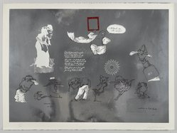 Jose Luis Cuevas (Mexican, 1934-2017). <em>Mirate en este Espejo (Image in the Mirror)</em>, 1969. Lithograph, Sheet: 22 1/2 x 30 in. (57.2 x 76.2 cm). Brooklyn Museum, A. Augustus Healy Fund and Bristol-Myers Fund, 69.89.12. © artist or artist's estate (Photo: , 69.89.12_PS4.jpg)