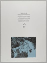 Jose Luis Cuevas (Mexican, 1934-2017). <em>Colophon Page</em>, 1969. Lithograph with text, Sheet: 30 1/8 x 22 3/8 in. (76.5 x 56.8 cm). Brooklyn Museum, A. Augustus Healy Fund and Bristol-Myers Fund, 69.89.16. © artist or artist's estate (Photo: , 69.89.16_PS4.jpg)