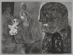 Jose Luis Cuevas (Mexican, 1934-2017). <em>Lo Feo de Este Mundo II (The Ugliness of this World)</em>, 1969. Lithograph, Sheet (image): 22 1/4 x 30 1/8 in. (56.5 x 76.5 cm). Brooklyn Museum, A. Augustus Healy Fund and Bristol-Myers Fund, 69.89.6. © artist or artist's estate (Photo: , 69.89.6_PS4.jpg)