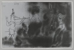 Jose Luis Cuevas (Mexican, 1934-2017). <em>Desfile</em>, 1969. Lithograph, Sheet: 14 3/4 x 22 1/4 in. (37.5 x 56.5 cm). Brooklyn Museum, A. Augustus Healy Fund and Bristol-Myers Fund, 69.89.9. © artist or artist's estate (Photo: , 69.89.9_PS4.jpg)