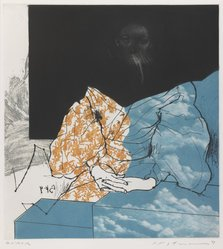 Ikeda Masuo (Japanese, 1934-1997). <em>Fashion</em>, 1969. Lithograph and drypoint, 14 1/4 x 13 1/8 in. (36.2 x 33.3 cm). Brooklyn Museum, Carll H. de Silver Fund, 70.42. © artist or artist's estate (Photo: Brooklyn Museum, 70.42_IMLS_PS3.jpg)