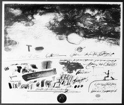 Saul Steinberg (American, born Romania,1914-1999). <em>Certified Landscape</em>. Lithograph on paper, 22 x 26 1/2 in. (55.9 x 67.3 cm). Brooklyn Museum, Carll H. de Silver Fund, 70.43. © artist or artist's estate (Photo: Brooklyn Museum, 70.43_bw.jpg)