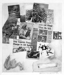 Robert Rauschenberg (American, 1925-2008). <em>Untitled</em>, 1970. Screen print on paper, sheet: 26 x 21 in. (66 x 53.3 cm). Brooklyn Museum, Bristol-Myers Fund, 71.27.9. © artist or artist's estate (Photo: Brooklyn Museum, 71.27.9_bw.jpg)