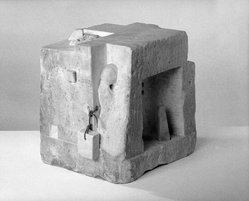 Gonzalo Fonseca (Uruguayan, 1922-1997). <em>Agriope's Room</em>, 1968. Marble, 12 1/2 x 13 13/16 x 10 7/8 in. (31.8 x 35.1 x 27.6 cm). Brooklyn Museum, Purchased with funds given by an anonymous donor, 71.55. © artist or artist's estate (Photo: Brooklyn Museum, 71.55_view3_bw_SL1.jpg)