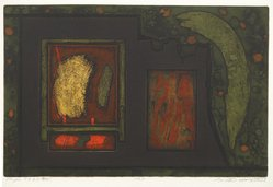 Milton Goldstein (American, 1914-2004). <em>Popei 79 A.D.</em>, 1969. Aquatint and etching Brooklyn Museum, Gift of the Society of American Graphic Artists in memory of John von Wicht, 71.60.27. © artist or artist's estate (Photo: Brooklyn Museum, 71.60.27_PS6.jpg)