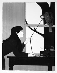 Will Barnet (American, 1911-2012). <em>Silent Seasons - Winter</em>. Lithograph in color Brooklyn Museum, Gift of the Society of American Graphic Artists in memory of John von Wicht, 71.60.6. © artist or artist's estate (Photo: Brooklyn Museum, 71.60.6_bw.jpg)