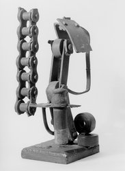 Richard Stankiewicz (American, 1922-1983). <em>1963-17</em>, 1963. Iron and steel (welded construction), height: 20 in. (50.8 cm). Brooklyn Museum, Gift of Dr. and Mrs. Robert Mandelbaum, 72.100. © artist or artist's estate (Photo: Brooklyn Museum, 72.100_bw.jpg)