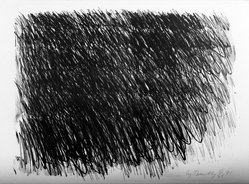 Cy Twombly (American, 1928-2011). <em>[Untitled] (No. 6)</em>, 1971. Lithograph on paper, sheet: 22 1/4 x 30 1/8 in. (56.5 x 76.5 cm). Brooklyn Museum, Purchased with funds given by the National Endowment for the Arts and Bristol-Myers Fund, 72.109.1. © artist or artist's estate (Photo: Brooklyn Museum, 72.109.1_bw.jpg)