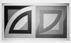 Frank Stella (American, born 1936). <em>Port aux Basques</em>, 1971. Lithograph and screenprint on paper, sheet: 38 x 70 in. (96.5 x 177.8 cm). Brooklyn Museum, National Endowment for the Arts and Bristol-Myers Fund, 72.116.2. © artist or artist's estate (Photo: Brooklyn Museum, 72.116.2_bw.jpg)