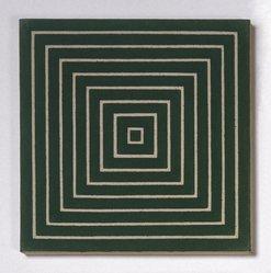 Frank Stella (American, born 1936). <em>Island No. 10</em>, 1962. Alkyd on raw canvas (Benjamin Moore flat wall paint), 12 1/8 x 12 1/8 in. (30.8 x 30.8 cm). Brooklyn Museum, Gift of Andy Warhol, 72.167.4. © artist or artist's estate (Photo: Brooklyn Museum, 72.167.4_SL1.jpg)