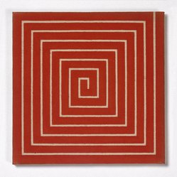 Frank Stella (American, born 1936). <em>New Madrid</em>, 1962. Alkyd on raw canvas (Benjamin Moore flat wall paint), 12 1/16 x 12 1/16 in. (30.6 x 30.6 cm). Brooklyn Museum, Gift of Andy Warhol, 72.167.5. © artist or artist's estate (Photo: Brooklyn Museum, 72.167.5_SL1.jpg)