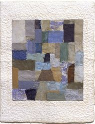 Anne Ryan (American, 1889-1954). <em>Number 405</em>, December, 1951. Fabric and paper collage, 6 3/8 x 5 in. (16.2 x 12.7 cm). Brooklyn Museum, Gift of Elizabeth McFadden and the Plymouth Fund, 72.29.1. © artist or artist's estate (Photo: Brooklyn Museum, 72.29.1_slide2_SL3.jpg)