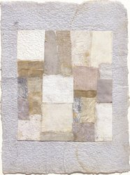 Anne Ryan (American, 1889-1954). <em>Number 417</em>, 1950. Fabric and paper collage, 6 7/8 x 5 1/8 in. (17.5 x 13 cm). Brooklyn Museum, Gift of Elizabeth McFadden and the Plymouth Fund, 72.29.2. © artist or artist's estate (Photo: Brooklyn Museum, 72.29.2_slide2_SL3.jpg)