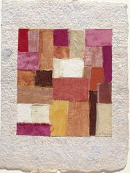 Anne Ryan (American, 1889-1954). <em>Number 425</em>, 1952. Fabric and paper collage, 7 x 5 1/4 in. (17.8 x 13.3 cm). Brooklyn Museum, Gift of Elizabeth McFadden and the Plymouth Fund, 72.29.4. © artist or artist's estate (Photo: Brooklyn Museum, 72.29.4_slide2_SL3.jpg)