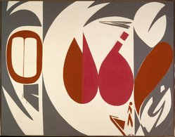 Lee Krasner (American, 1908-1984). <em>Mysteries</em>, 1972. Oil on cotton duck, 69 1/2 x 89 1/2 in. (176.5 x 227.3 cm). Brooklyn Museum, Dick S. Ramsay Fund, 73.100. © artist or artist's estate (Photo: Brooklyn Museum, 73.100_SL1.jpg)