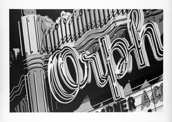 Robert Cottingham (American, born 1935). <em>Orph</em>, 1972. Lithograph on paper, sheet: 24 x 34 1/4 in. (61 x 87 cm). Brooklyn Museum, Designated Purchase Fund, 73.11b. © artist or artist's estate (Photo: Brooklyn Museum, 73.11b_bw.jpg)