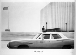 Paul Staiger. <em>U.N. Plaza</em>, 1972. Lithograph on paper, sheet: 24 1/8 x 34 1/4 in. (61.3 x 87 cm). Brooklyn Museum, Designated Purchase Fund, 73.11j. © artist or artist's estate (Photo: Brooklyn Museum, 73.11j_bw.jpg)