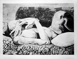 Carl Schwartz (American, born 1935). <em>Heirloom 2</em>, 1972. Lithograph on paper, sheet: 22 x 30 in. (55.9 x 76.2 cm). Brooklyn Museum, Gift of the artist, 73.120. © artist or artist's estate (Photo: Brooklyn Museum, 73.120_bw.jpg)