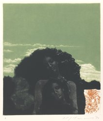 Ikeda Masuo (Japanese, 1934-1997). <em>Sphinx of the Woods</em>, 1970. Etching, mezzotint and drypoint, Sheet: 19 3/8 x 14 3/8 in. (49.2 x 36.5 cm). Brooklyn Museum, Gift of the Helen and Felix Juda Foundation, by exchange, 73.122.6. © artist or artist's estate (Photo: Brooklyn Museum, 73.122.6_IMLS_PS3.jpg)