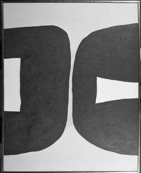 Kumi Sugai (1919-1996). <em>Diable Dormant</em>, 1963. Oil on canvas, 65 x 53 in. (165.1 x 134.6 cm). Brooklyn Museum, Gift of the Carol and Arthur Goldberg Collection, 73.34.2. © artist or artist's estate (Photo: Brooklyn Museum, 73.34.2_bw.jpg)