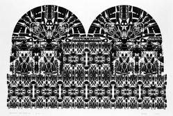 Jim Forbes (American, born 1938). <em>Alifannzi - East Elevation</em>, 1972. Photo screenprint, Sheet: 34 1/4 in. (87 cm). Brooklyn Museum, Gift of the artist, 74.126.5. © artist or artist's estate (Photo: Brooklyn Museum, 74.126.5_bw.jpg)