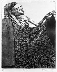 Bill Brauer (American, born 1939). <em>Solstice</em>, 1974. Etching on paper, 14 3/4 x 12 in. (37.5 x 30.5 cm). Brooklyn Museum, Designated Purchase Fund, 74.130.1. © artist or artist's estate (Photo: Brooklyn Museum, 74.130.1_bw.jpg)