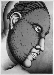 Robert Lostutter (American, born 1939). <em>Birds of Heaven, 14</em>, 1974. Lithograph on paper, sheet: 40 x 30 in. (101.6 x 76.2 cm). Brooklyn Museum, A. Augustus Healy Fund, 74.132.2. © artist or artist's estate (Photo: Brooklyn Museum, 74.132.2_bw.jpg)