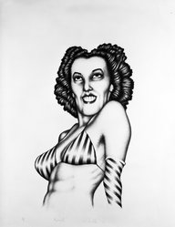 Edward Paschke (American, 1939-2004). <em>Rosarita</em>, 1973. Lithograph on paper, sheet: 30 x 22 1/2 in. (76.2 x 57.2 cm). Brooklyn Museum, A. Augustus Healy Fund, 74.132.4. © artist or artist's estate (Photo: Brooklyn Museum, 74.132.4_bw.jpg)