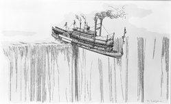 William Crutchfield (American, born 1932). <em>City of Ultramarine</em>, 1973. Screenprint, Image: 35 3/8 x 23 5/8 in. (89.9 x 60 cm). Brooklyn Museum, Gift of Mr. and Mrs. Samuel Dorsky, 74.178.14. © artist or artist's estate (Photo: Brooklyn Museum, 74.178.14_bw.jpg)