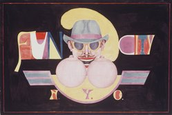 Richard Lindner (American, born Germany, 1901-1978). <em>Fun City</em>, 1969. Lithograph on paper, sheet: 28 x 40 1/8 in. (71.1 x 101.9 cm). Brooklyn Museum, Gift of Mr. and Mrs. Samuel Dorsky, 74.178.54. © artist or artist's estate (Photo: Brooklyn Museum, 74.178.54_transpc003.jpg)