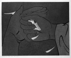 Stanton Macdonald-Wright (American, 1890-1973). <em>In the Hand the Fire Fly Makes a Cold Brilliance</em>, 1966-1967. Woodcut, Sheet: 17 15/16 x 21 7/16 in. (45.6 x 54.5 cm). Brooklyn Museum, Anonymous gift, 74.181.18. © artist or artist's estate (Photo: Brooklyn Museum, 74.181.18_bw.jpg)