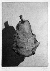 Maurilio Minuzzi (Italian, born 1939). <em>La Pera</em>, 1972. Etching on paper, sheet: 20 7/8 x 15 1/2 in. (53 x 39.4 cm). Brooklyn Museum, Designated Purchase Fund, 74.68.2. © artist or artist's estate (Photo: Brooklyn Museum, 74.68.2_bw.jpg)