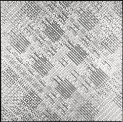 Kendall Shaw (American, born 1924). <em>Eastern</em>, 1973-1974. Acrylic on cotton duck, 67 5/8 x 67 1/2 in. (171.8 x 171.5 cm). Brooklyn Museum, Dick S. Ramsay Fund, 74.87. © artist or artist's estate (Photo: Brooklyn Museum, 74.87_bw.jpg)