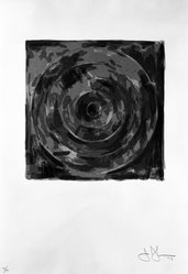 Jasper Johns (American, born 1930). <em>Target Number Two from For Meyer Shapiro</em>, 1973. Screenprint, Sheet: 23 3/4 x 16 1/2 in. (60.3 x 41.9 cm). Brooklyn Museum, Designated Purchase Fund, 75.16.1. © artist or artist's estate (Photo: Brooklyn Museum, 75.16.1_bw.jpg)