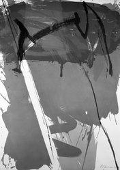 Alexander Liberman (Russian, 1912-1999). <em>Untitled</em>, 1973. Lithograph on paper, sheet: 38 5/8 x 27 1/4 in. (98.1 x 69.2 cm). Brooklyn Museum, Designated Purchase Fund, 75.16.7. © artist or artist's estate (Photo: Brooklyn Museum, 75.16.7_bw.jpg)
