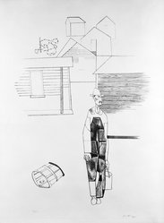Robert Gwathmey (American, 1903-1988). <em>Sharecropper</em>, n.d. Lithograph on wove paper with deckled edge, Sheet (image): 30 x 22 1/4 in. (76.2 x 56.5 cm). Brooklyn Museum, Anonymous gift, 75.215.2. © artist or artist's estate (Photo: Brooklyn Museum, 75.215.2_bw.jpg)