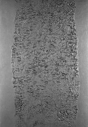 Alberto Burri (Italian, 1915-1995). <em>Untitled</em>, 1973. Etching and aqautint on cast bronze plate, 31 x 41 in. (78.7 x 104.1 cm). Brooklyn Museum, Designated Purchase Fund, 75.42.2. © artist or artist's estate (Photo: Brooklyn Museum, 75.42.2_bw.jpg)