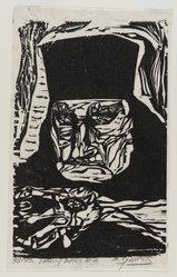 Nicholas Sperakis (American, born 1943). <em>Looking Down at 7</em>, 1964. Woodcut on paper, sheet: 10 7/16 x 6 1/2 in. (26.5 x 16.5 cm). Brooklyn Museum, Gift of Judy Jana, 76.199. © artist or artist's estate (Photo: Brooklyn Museum, 76.199_PS4.jpg)