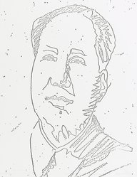 Andy Warhol (American, 1928-1987). <em>Mao</em>, 1973. Xerox print on paper, sheet: 11 x 8 9/16 in. (27.9 x 21.7 cm). Brooklyn Museum, Gift of Theodore Kheel, 76.201.29. © artist or artist's estate (Photo: Brooklyn Museum, 76.201.29_PS2.jpg)