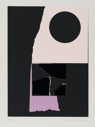 Louise Nevelson (American, born Russia, 1899-1988). <em>[Untitled]</em>, 1973. Color lithograph and silkscreen, Sheet: 11 15/16 x 9 in. (30.3 x 22.9 cm). Brooklyn Museum, Gift of Theodore Kheel, 76.205.17. © artist or artist's estate (Photo: Brooklyn Museum, 76.205.17_PS2.jpg)