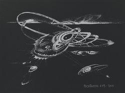 Lee Bontecou (American, born 1931). <em>Untitled</em>, 1973. Silkscreen, Sheet: 8 15/16 x 12 in. (22.7 x 30.5 cm). Brooklyn Museum, Gift of Theodore Kheel, 76.205.1. © artist or artist's estate (Photo: Brooklyn Museum, 76.205.1_PS2.jpg)