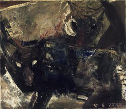Clayton S. Price (American, 1874-1950). <em>Wolves</em>, 1944. Oil on paperboard panel, 26 x 30 in.  (66.0 x 76.2 cm). Brooklyn Museum, Gift of the Edith and Milton Lowenthal Foundation, Inc., 76.71. © artist or artist's estate (Photo: Brooklyn Museum, 76.71.jpg)