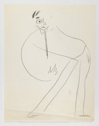 Abe Birnbaum (American, 1899-1966). <em>Untitled Caricature (Man)</em>, ca. 1937. Graphite on paper, sheet: 11 1/16 x 8 1/2 in. (28.1 x 21.6 cm). Brooklyn Museum, Gift of George K. Hourwich, 77.155.2i. © artist or artist's estate (Photo: Brooklyn Museum, 77.155.2i_IMLS_PS3.jpg)