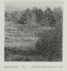 Richard Claude Ziemann (American, born 1932). <em>Rybak's Field</em>, 1966. Etching on paper, sheet: 8 3/4 x 8 9/16 in. (22.2 x 21.7 cm). Brooklyn Museum, Gift of the artist, 77.162.4. © artist or artist's estate (Photo: Brooklyn Museum, 77.162.4_PS4.jpg)