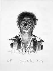 Alfred Leslie. <em>Alfred Leslie</em>, 1974. Lithograph on paper, 40 1/8 x 30 in. (101.9 x 76.2 cm). Brooklyn Museum, Designated Purchase Fund, 77.17. © artist or artist's estate (Photo: Brooklyn Museum, 77.17_bw.jpg)
