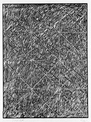 Vincent Longo (American, born 1923). <em>Third Cut</em>, 1974. Woodcut on paper, sheet: 30 x 23 in. (76.2 x 58.4 cm). Brooklyn Museum, Designated Purchase Fund, 77.20c. © artist or artist's estate (Photo: Brooklyn Museum, 77.20c_bw.jpg)