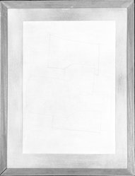Ben Nicholson (British, 1894-1982). <em>Yvetot</em>, August 1958. Pencil on oil wash background on heavy wove paper, 13 1/2 x 19 1/2 in. (34.3 x 49.5 cm). Brooklyn Museum, Gift of Mr. and Mrs. Carl L. Selden, 77.228.1. © artist or artist's estate (Photo: Brooklyn Museum, 77.228.1_bw.jpg)
